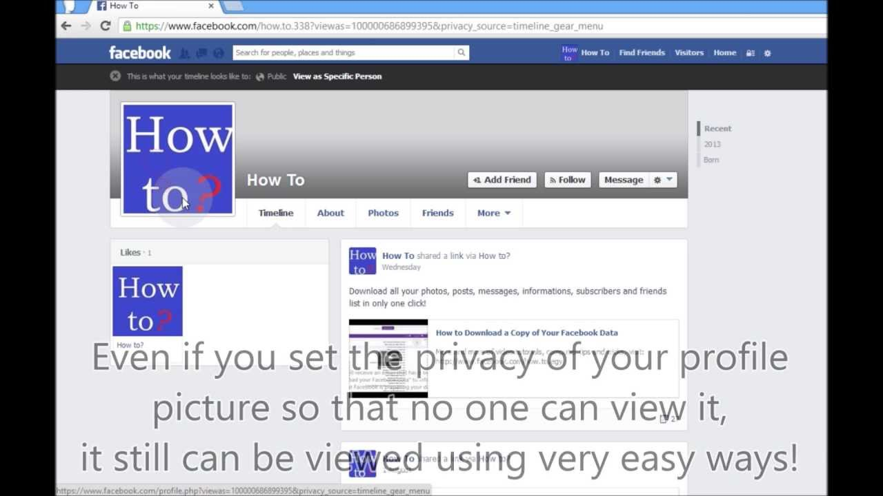 how to see blocked facebook profile pictures