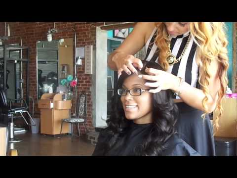 FULL LACE WIG SEW IN NO GLUE INVISIBLE HAIR LINE.CAMBODIAN VIRGIN HAIR 18¨
