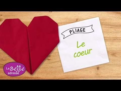 Pliage De Serviette En Forme De Coeur YouTube