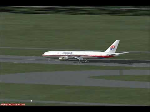 Flight Simulator:X Malaysia Airlines Boeing 777 63 Knots Crosswind Landing