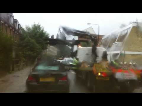 London streets (217.) - towing wrong parking vehicles