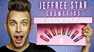 NO BULLSH*T Jeffree Star EQUALITY Lipstick Review! | PopLuxe