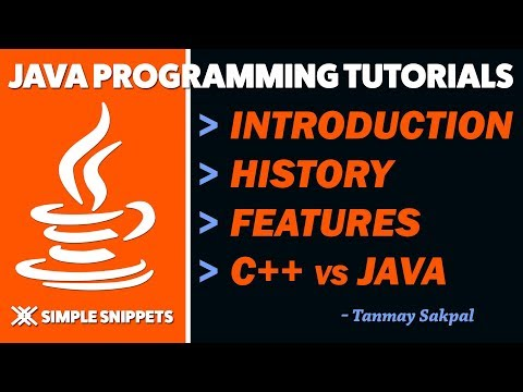 Java Programming Tutorial - Introduction | History | Features | C++ vs Java