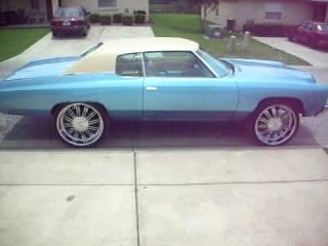 72 Impala on 26S http://www.blingcheese.com/videos/2/26+++inch+++rims.htm