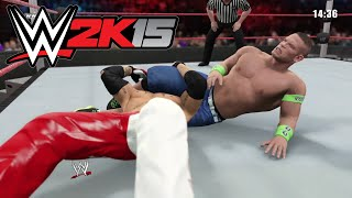 WWE 2K15- John Cena vs Rey Mysterio Iron Man Match at Vengeance full match 2015 (PS4)