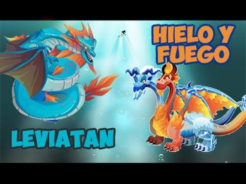 Como sacar al dragon leviatan . dragon hielo y fuego de Dragon city