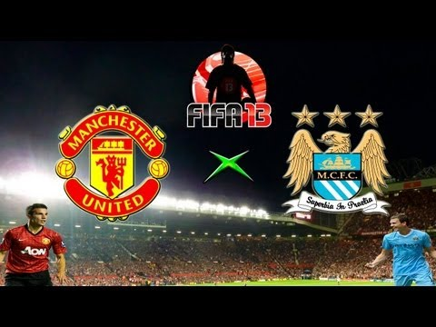 Fifa 13 - United x City - Melhores Momentos - 06-04-13