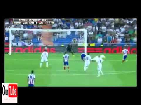 Real Madrid vs Atletico Madrid 1-1 Super Cup 19 8 2014 ريال مدريد واتلتيكو مدريد كأس السوبر