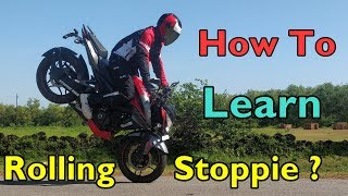 How To Learn ROLLING STOPPIE - Easy 3 Step Tutorial in Hindi
