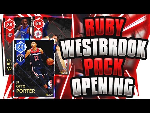 RUBY RUSSELL WESTBROOK PACK OPENING! OMG WE PULLED A NEW CARD! NBA 2K18 MYTEAM PACK OPENING!
