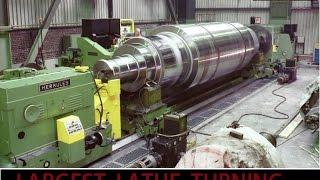 world largest lathe machine operation video