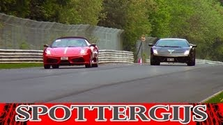 Ferrari Scuderia 16M, 599 GTB and 430 Challenge! Lovely sounds!