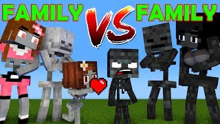 FAMILY VS FAMILY - WHO IS THE STRONGEST MONSTERS - MONSTER SCHOOL