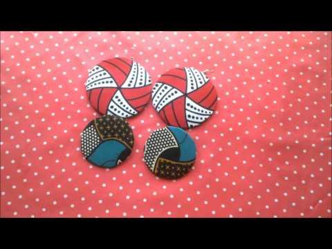 African print fabric (Ankara) earings (Yemi alade Johny video inspired)