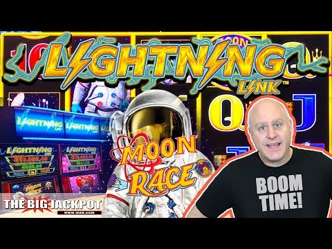 2 Bonus Round WIN$ ⚡Lightning Link Moon Race Slots | The Big Jackpot