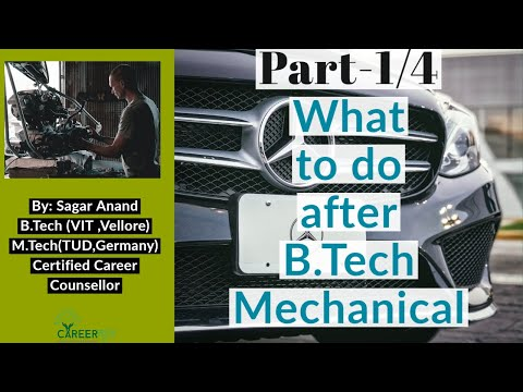 What to do after b.tech mechanical engineering|part 1