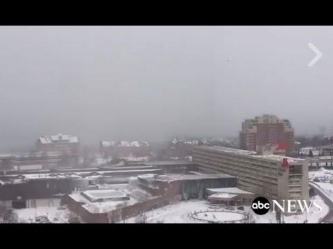 Lake Effect Snow Rolls Into Buffalo