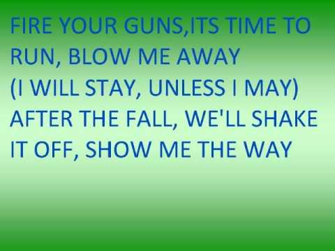Blow Me Away - Breaking Benjamin (lyrics) video