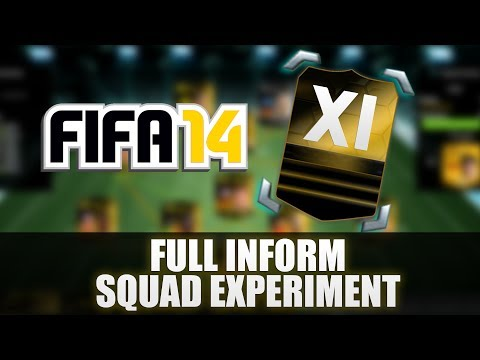 FIFA 14 Full Inform Squad Experiment Episode 1 Ultimate Team