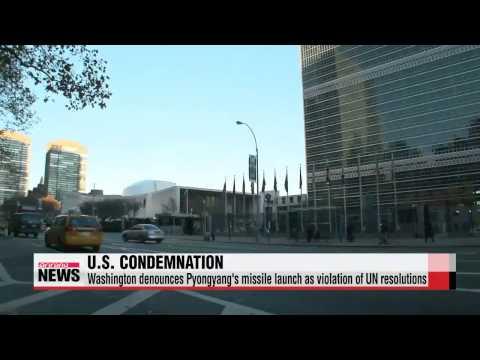U.S. condemns North Korea's missile launch