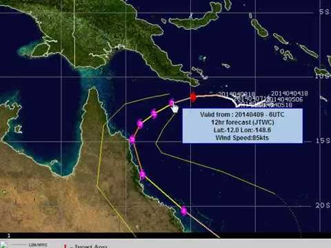 Aussie Cyclone Update April 9 2014