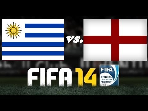 FIFA 14 Gameplay - Uruguay vs England - WORLD CUP BRAZIL SPECIAL