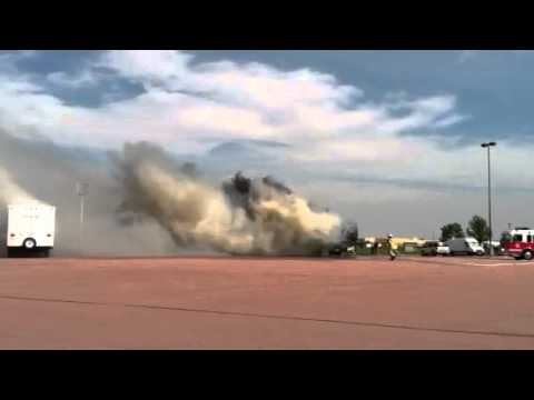 RV Fire in parking lot of Cabelas in Mitchell, SD 5-22-2012