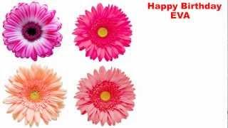 EVA - español - flowers - Happy Birthday