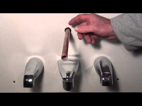 How to remove and replace a tub spout! Plumbing Tips!
