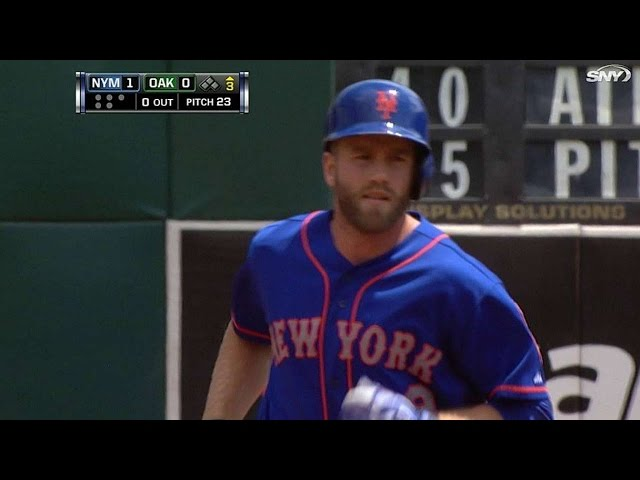 NYM@OAK: Campbell drives a solo homer to center