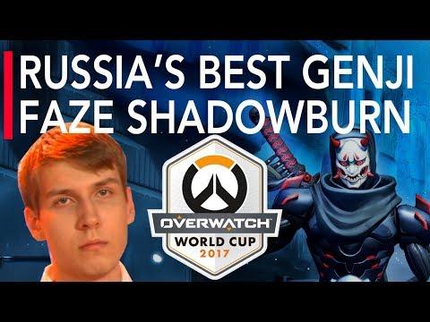 Overwatch Gameplay   Russia's Best Genji FaZe ShaDowBurn VS Turkey   Overwatch World Cup 2017