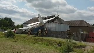 Russia: Plane crashes into house in freak accident