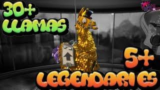 Fortnite Llama Opening - Golden Llamas and Legendary Loot Unboxing