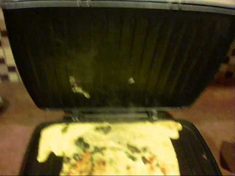 How To Cook and Egg and Cheese Omelette On the George Foreman Grill