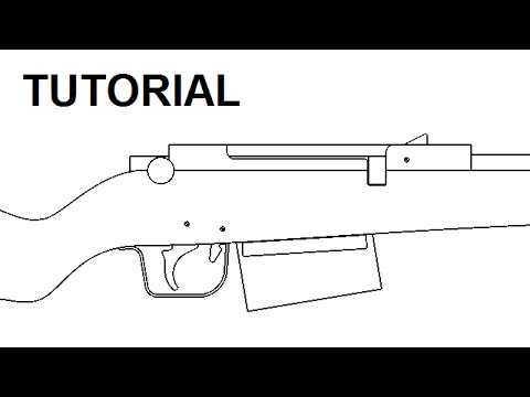 Bolt action rubber band gun - $5 plans and free tutorial