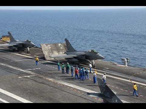 CATAMARAN joint amphibious exercise French Navy & Army Aircraft Carrier Mistral class LHD LPD Rafale