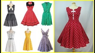 vintage style polka dot outfits=50s style polka dot dresses for women