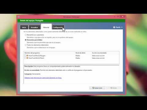 Windows Defender Antivirus y Antispyware gratuito (Uso. Activación y configuración.)