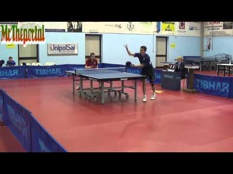 Table Tennis Italian League 2016 - Matteo Mutti Vs Jordi Piccolin -