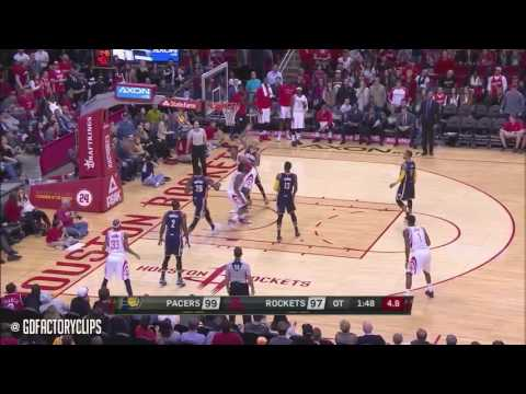 Harden behind the back no look clutch pass vs. Pacers