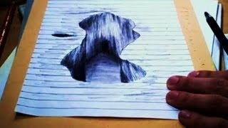 [3D Test Dessin rapide] Illusion drawing HOLE -