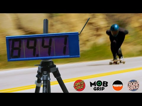 Breaking the world record for skateboard speed downhill