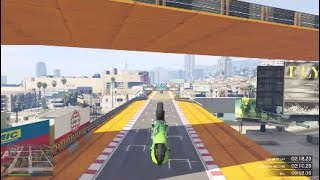 Gta 5 stunt racing to [cool trick at The end]
