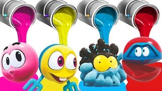 Color Balls For Children To Play | Learn With WonderBalls | Cartoon Candy