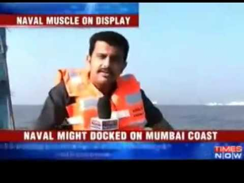 Indias naval might on display at Mumbai harbour