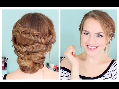 How to Do an Easy Fishtailed Updo