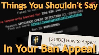 Things You Shouldn't Say In Your Hypixel Ban Appeal