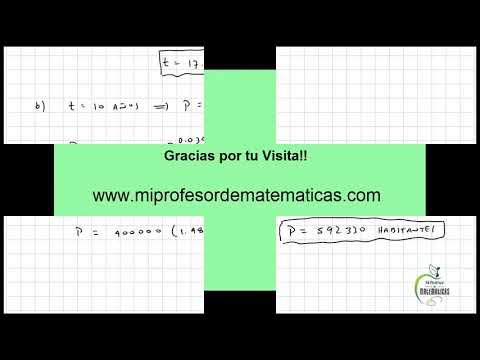 Aplicación Ecuaciones Diferenciales de Primer Orden - Crecimiento Poblacional - Vídeo 152