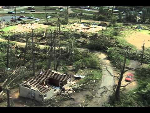 Cordova Tornado Damage Aerials
