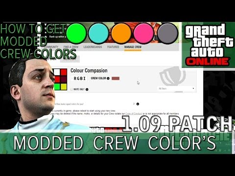 Gta 5 Online Modded Crew Colors ▶ Gta 5 Online | How to Get